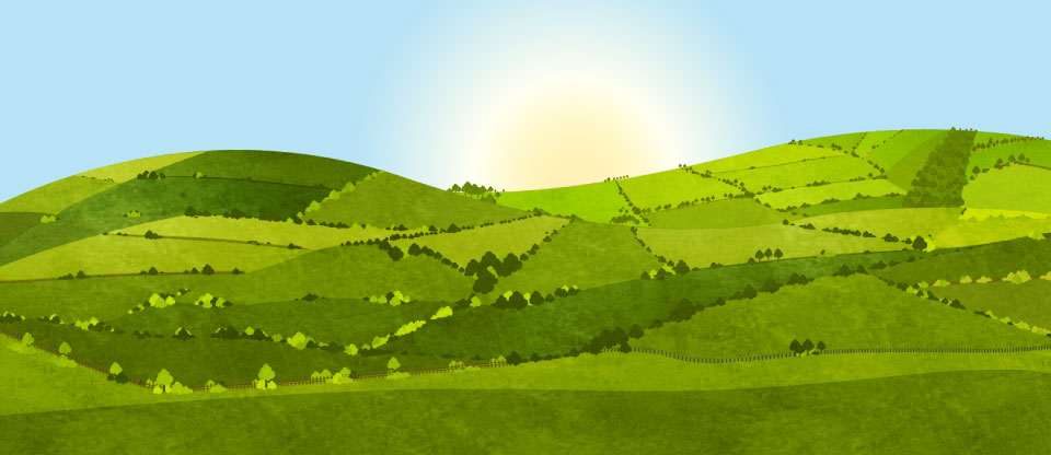 West Country hills, illustration