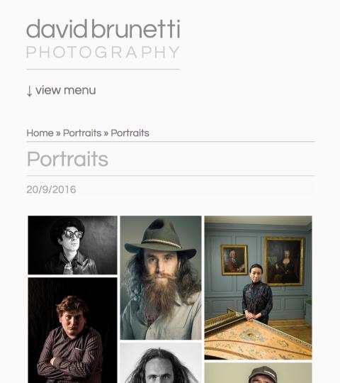 portrait gallery, screenshot